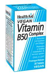 Health Aid Vitamin B50 Complex S/R (verz. Freisetzung) 30 Tabletten