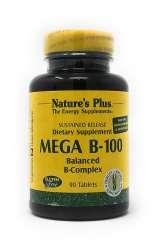 Natures Plus Mega B-100 Balanced B-Compex (B-Komplex-Formel) 90 Tabletten S/R (147,4g)