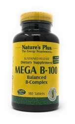Natures Plus Mega B-100 Balanced B-Compex (B-Komplex-Formel) 180 Tabletten S/R (238,5g)