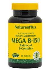Natures Plus Mega B-150 Komplex 60 Tabletten S/R (120,5g)