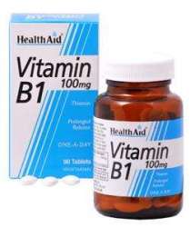 Health Aid Vitamin B1 (Thiamin) 100mg S/R (verz. Freisetzung) 90 Tabletten