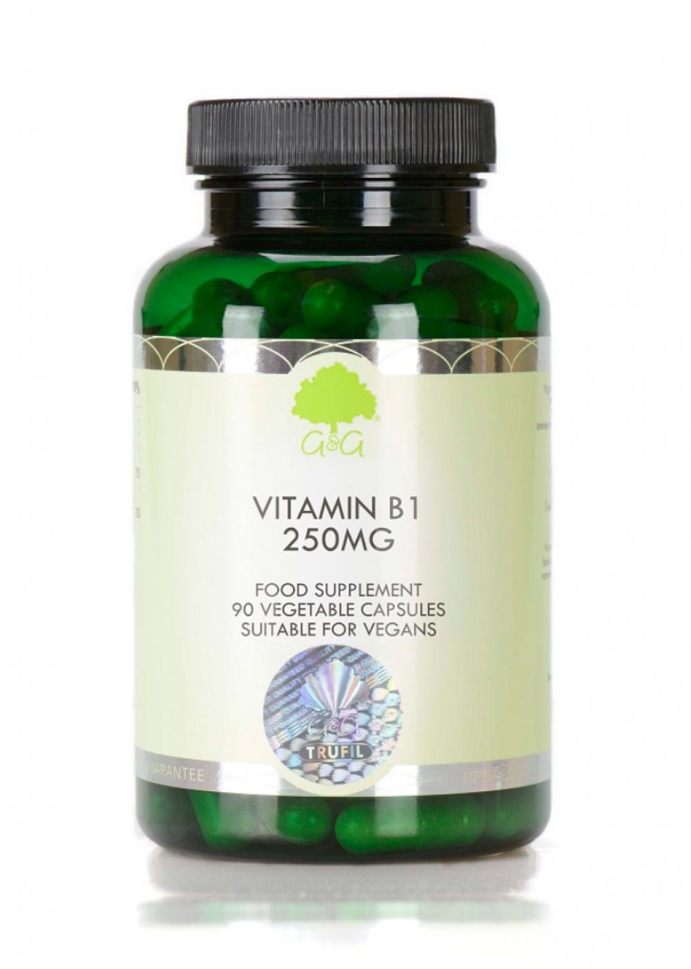 G&G Vitamins B1 (Thiamin HCl) 250mg 90 veg. Kapseln (35,6g) (vegan)