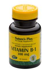 Natures Plus Vitamin B-1 (Thiamin) 300mg 90 Tabletten S/R (46,7g)
