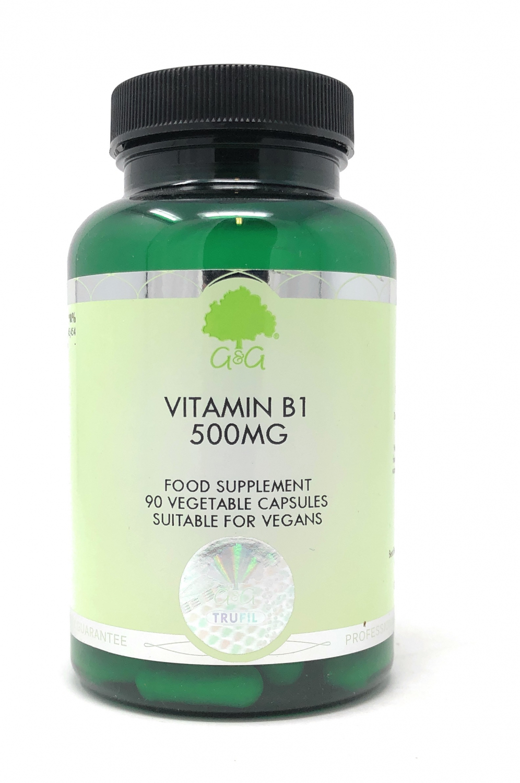 G&G Vitamins Vitamin B1 (Thiamin) 500mg 90 veg. Kapseln (55,8g) (vegan)