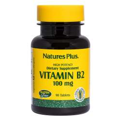 Natures Plus Vitamin B-2 (Riboflavin) 100mg 90 Tabletten (29,5g)