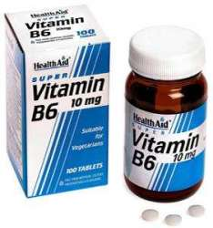 HealthAid Vitamin B6 (Pyridoxine HCl) 10mg 100 Tabletten(vegan)