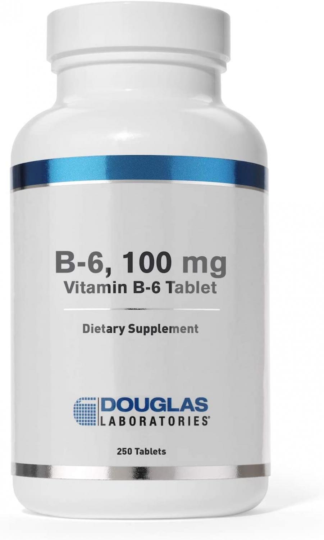 Douglas Labs B-6 100mg (vegan) (Pyridoxin) 250 Tabletten (vegan)