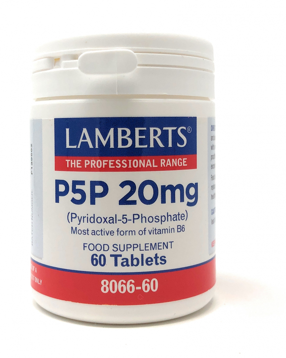 Lamberts Healthcare Ltd. P5P 20mg (Pyridoxal-5-Phosphate) 60 Tabletten (vegan)
