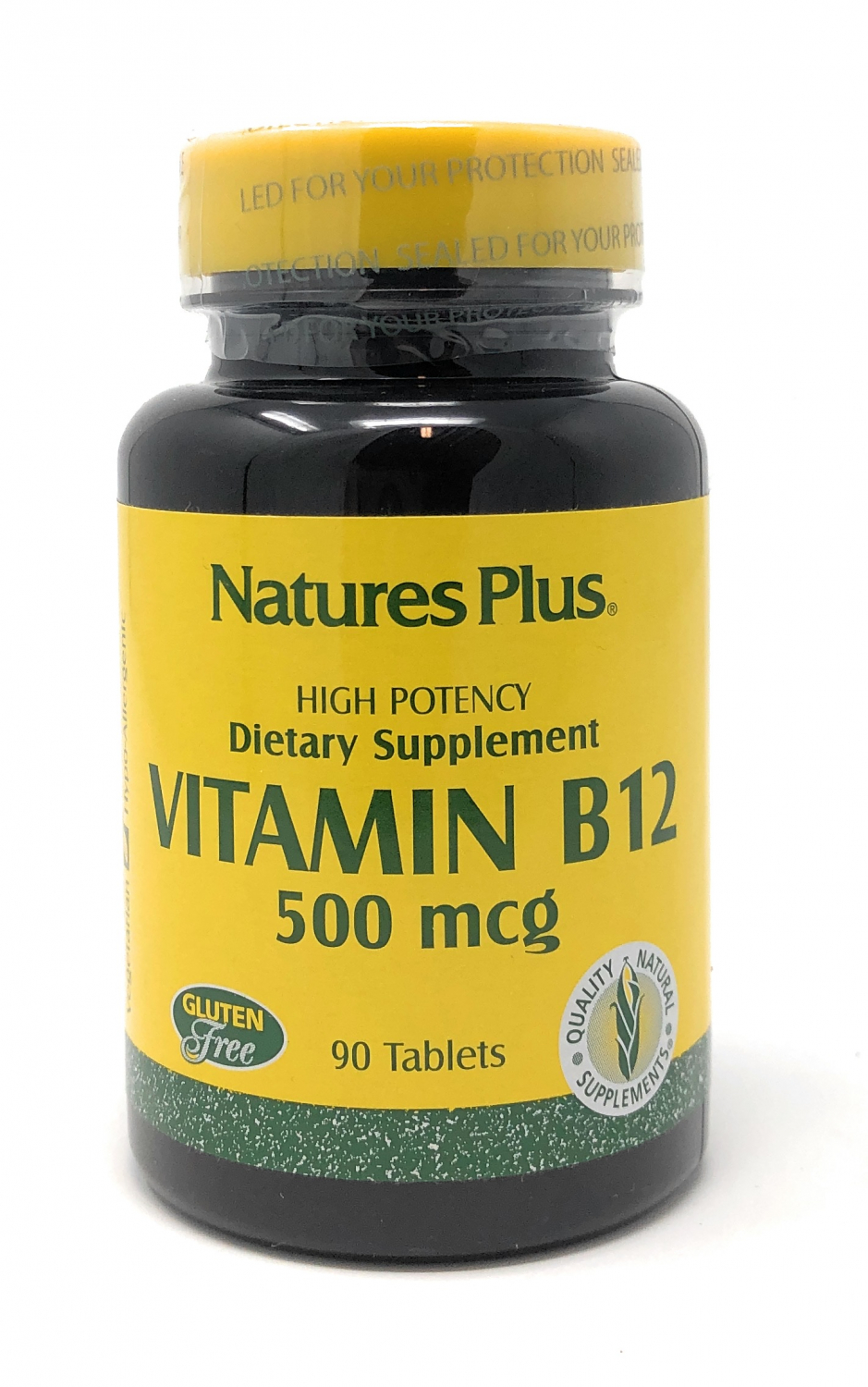 Natures Plus Vitamin B-12 (Methylcobalamin) 500mcg 90 Tabletten (54g)