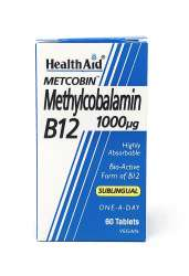 HealthAid Methylcobalamin Metcobin 1000mcg 60 sublinguale Tabletten (vegan)