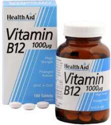 (2er BUNDLE) | Vitamin B12 1000mcg 100 veg. Tabletten S/R (vegan) HA | 100 tablet - HealthAid