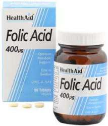 Health Aid Folic Acid 400mcg (Folsäure) 1000 veg. Tabletten (vegan)