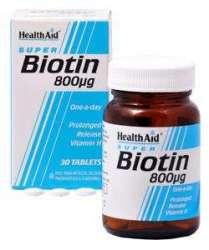 Health Aid Biotin 800mcg 30 Tabletten