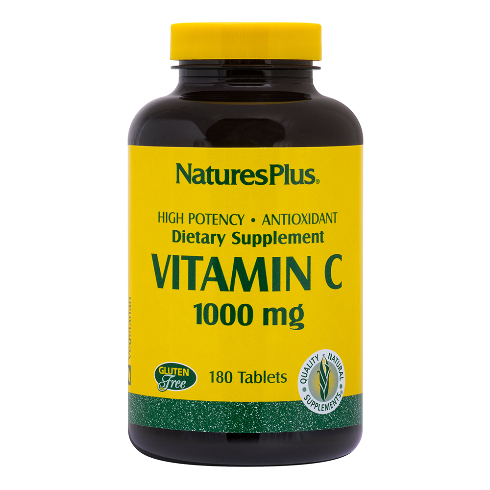 Natures Plus Vitamin C 1000 mg w/Rose Hips (mit Hagebutten) 180 Tabletten