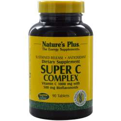 Natures Plus Super C Complex 1000mg S/R 90 Tabletten (205g)