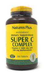 Natures Plus Super C Complex (1 g Vitamin C) 180 Tabletten (372,5g)