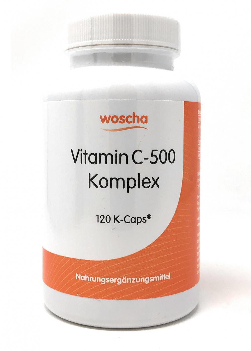 woscha Vitamin C-500 Komplex 120 K-Caps (104g) (vegan)
