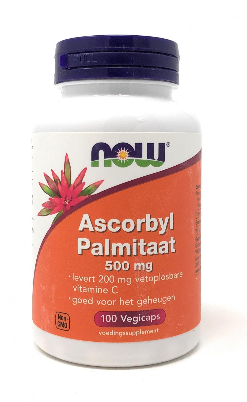 NOW Foods Ascorbyl Palmitaat 500 mg  (fettlösliches Vitamin C) 100 veg. Kapseln