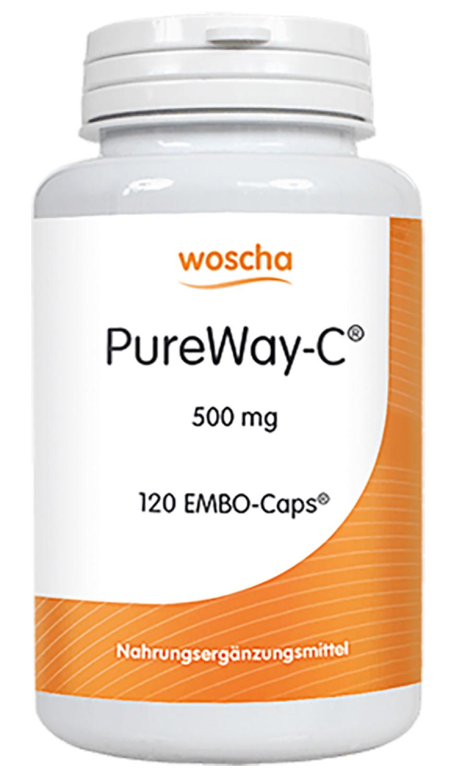 woscha PureWay-C® 500mg (Ersatz für Ester-C)  120 Embo-Caps (g) (vegan)