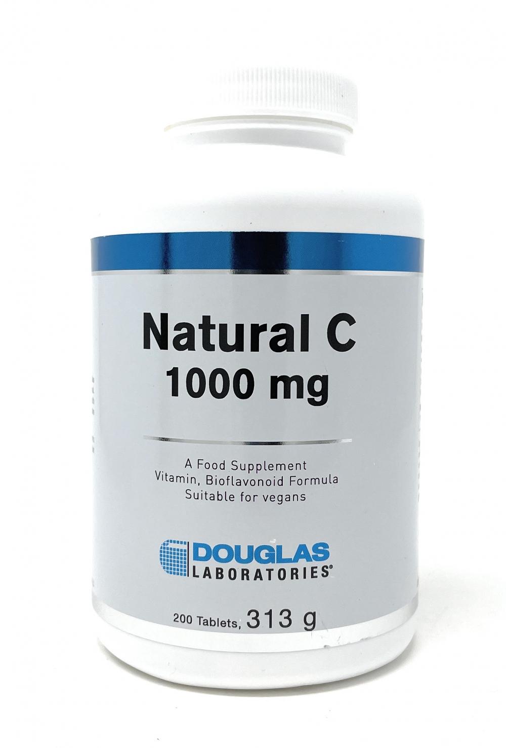 Douglas Laboratories Europe Natural C 1000 mg 200 Tabletten (313g)