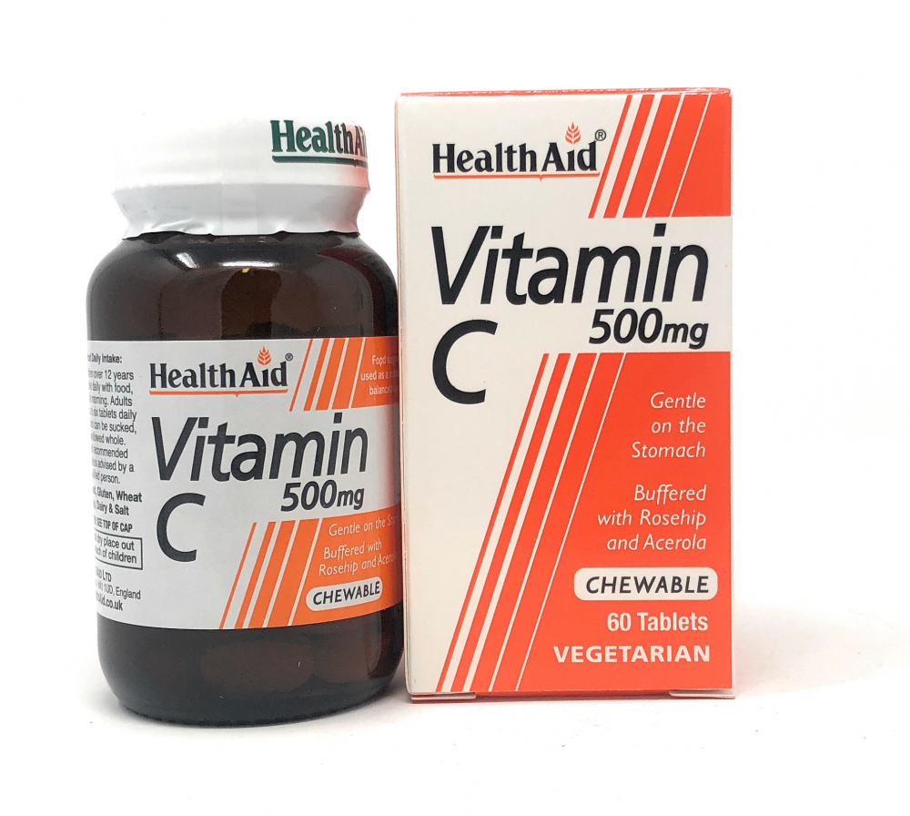 HealthAid Vitamin C 500mg Chewable (Orange Flavour) 60 Kautabletten