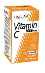 HealthAid Vitamin C 1000mg Chewable (Orange Flavour) 30 Kautabletten