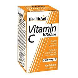 HealthAid Vitamin C 1000mg Chewable (Orange Flavour) 100 Kautabletten (vegan)