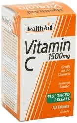 HealthAid Vitamin C 1500mg Prolonged Release (verz. Freisetzung) 30 Tabletten (vegan)