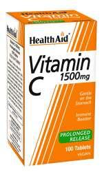 HealthAid Vitamin C 1500mg Prolonged Release (verz. Freisetzung) 100 Tabletten (vegan)