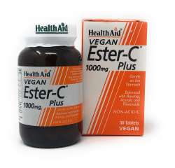 HealthAid Ester-C 1000mg Plus 30 Tabletten (vegan)