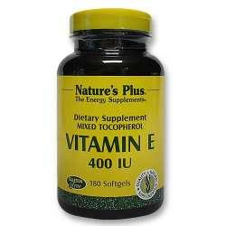 Natures Plus Vitamin E 400 IU Mixed Tocopherol 180 Softgels (144g)