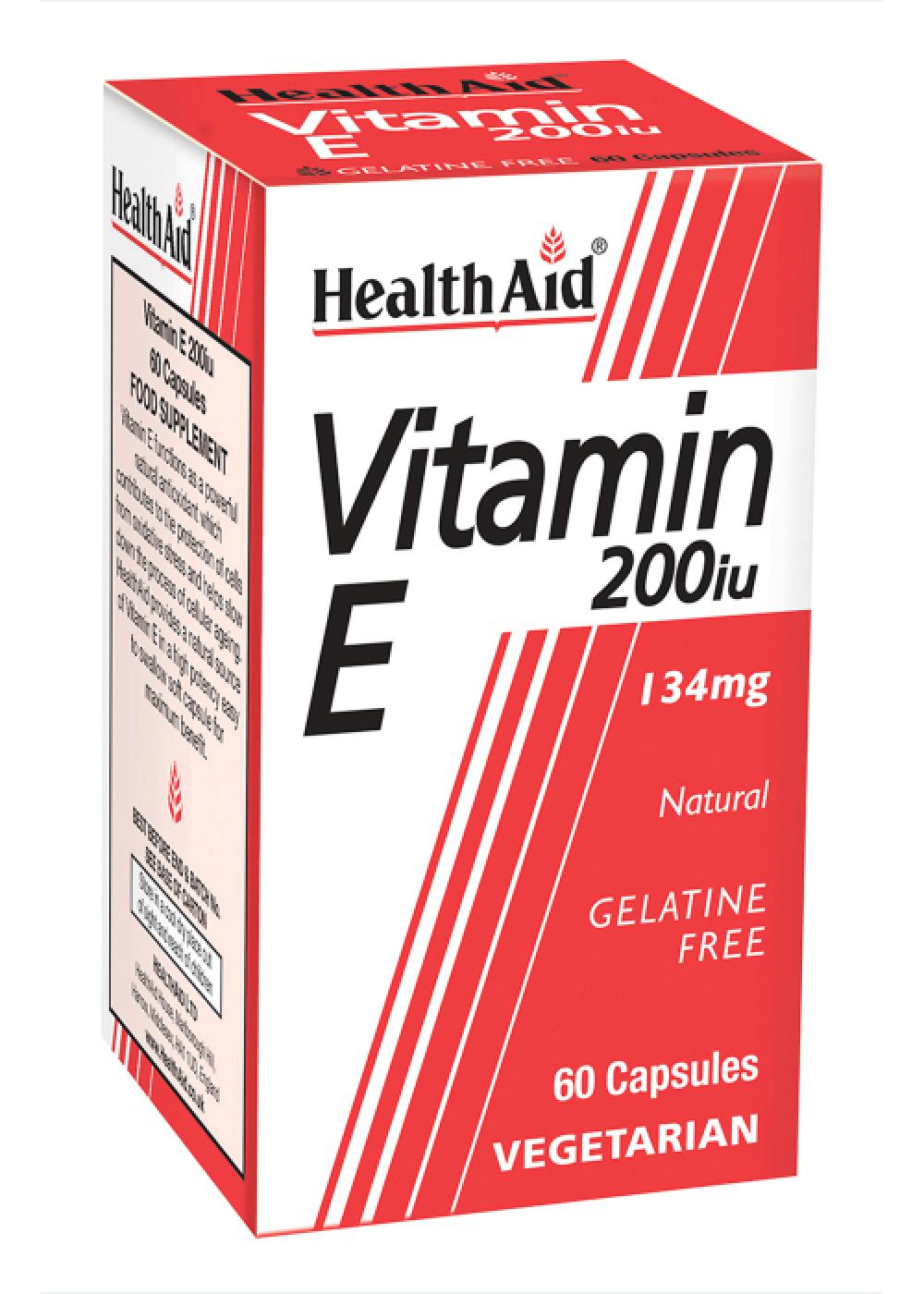 HealthAid Vitamin E 200iu Natural  60 veg. Kapseln