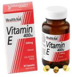 Health Aid Vitamin E 400iu (238mg) Natural  30 veg. Kapseln