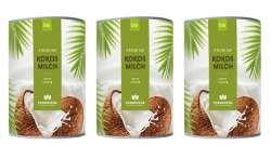 Cosmoveda BIO Cocos Milch [Kokosmilch] 3x400ml = 1200ml