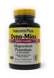 Natures Plus DYNO-MINS® Magnesium, Potassium and Bromelain 90 Tabletten (130,1g)