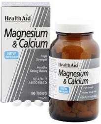Health Aid Magnesium & Calcium 90 Tabletten (vegan)