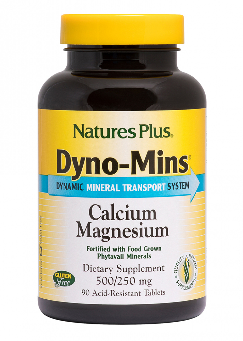 Natures Plus DYNO-MINS® Calcium Magnesium 90 Tabletten (212g)