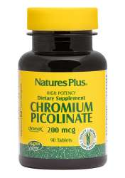 Natures Plus Chromium Picolinate 200mcg (Chrom) 90 Tabletten (44,9g)