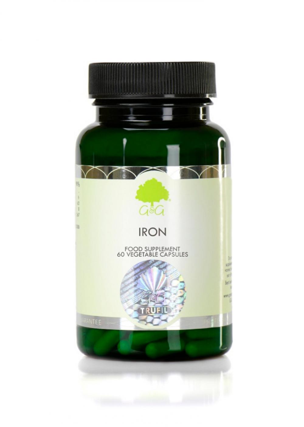 G&G Vitamins Iron (Eisen 20 mg) 60 veg. Kapseln (14,1g)(vegan)