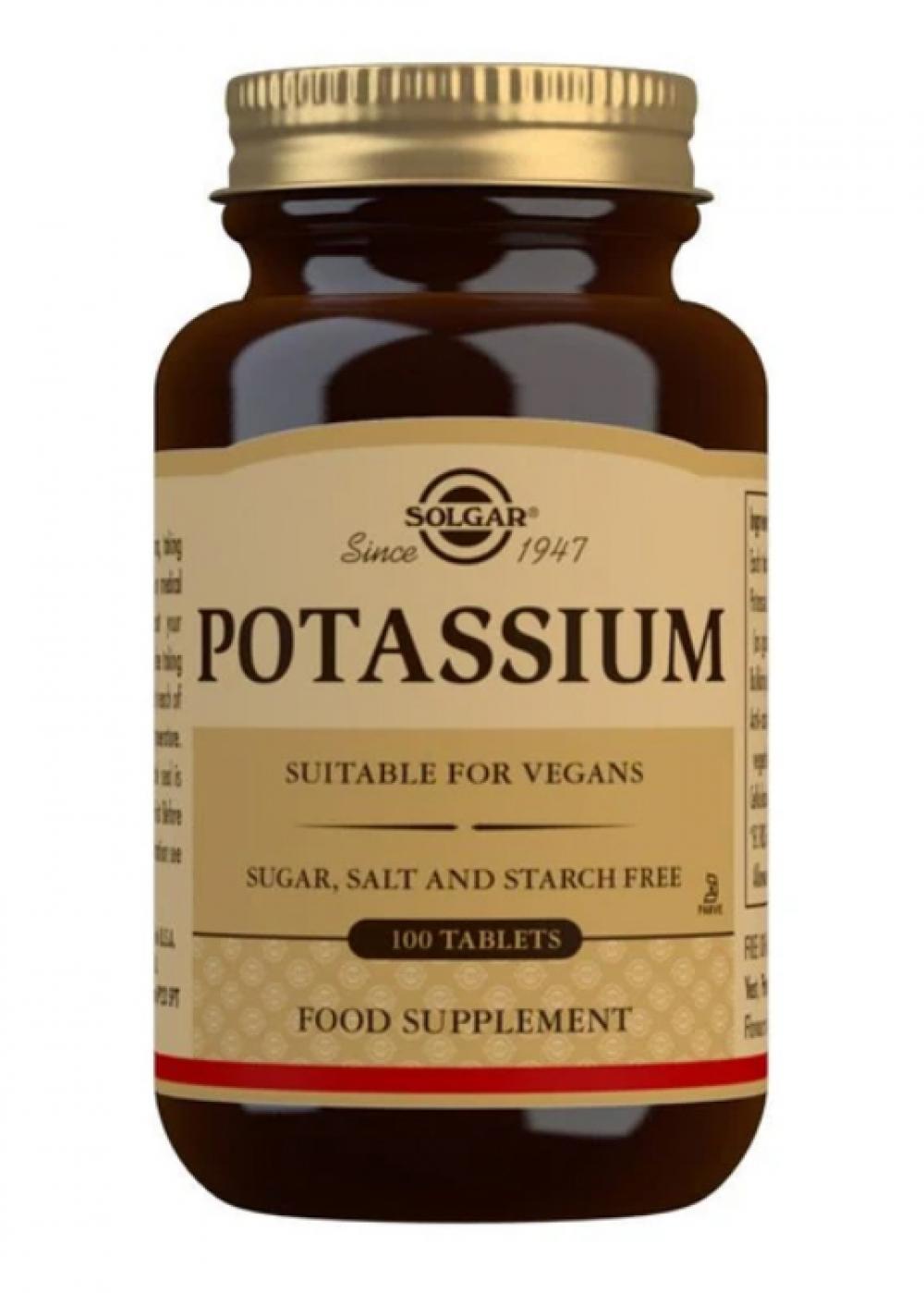 Solgar Potassium 99 (vegan) (Kalium Glukonat) 100 Tabletten (vegan)