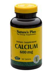 Natures Plus Calcium 600mg [Kalzium-Soja-Aminosäurechelat] 90 Tabletten (225,7g)