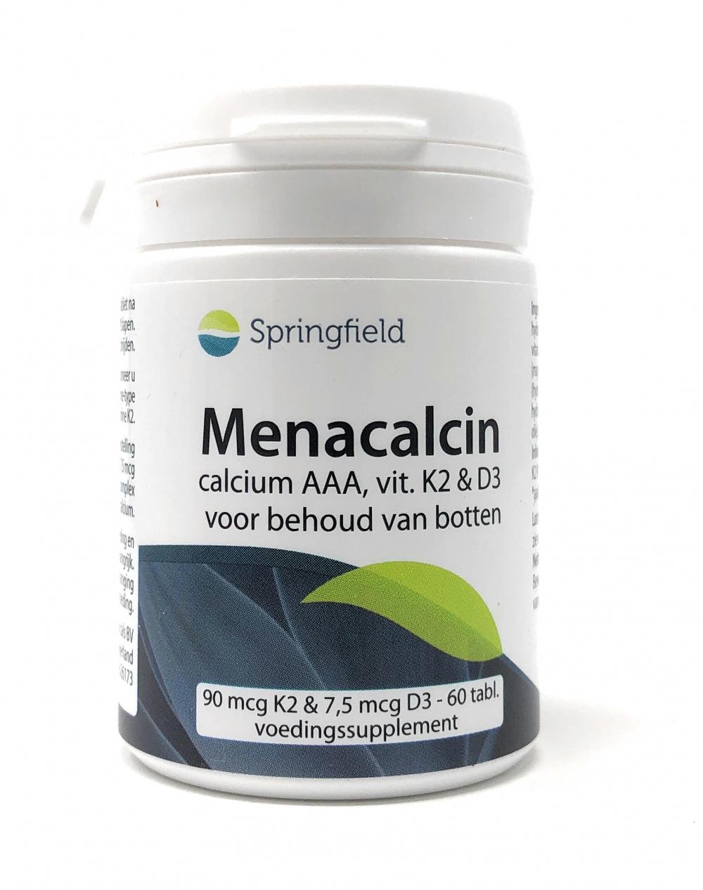 Springfield Nutraceuticals Menacalcin Calcium AAA, Vit. K2 & D3 60 Tabletten