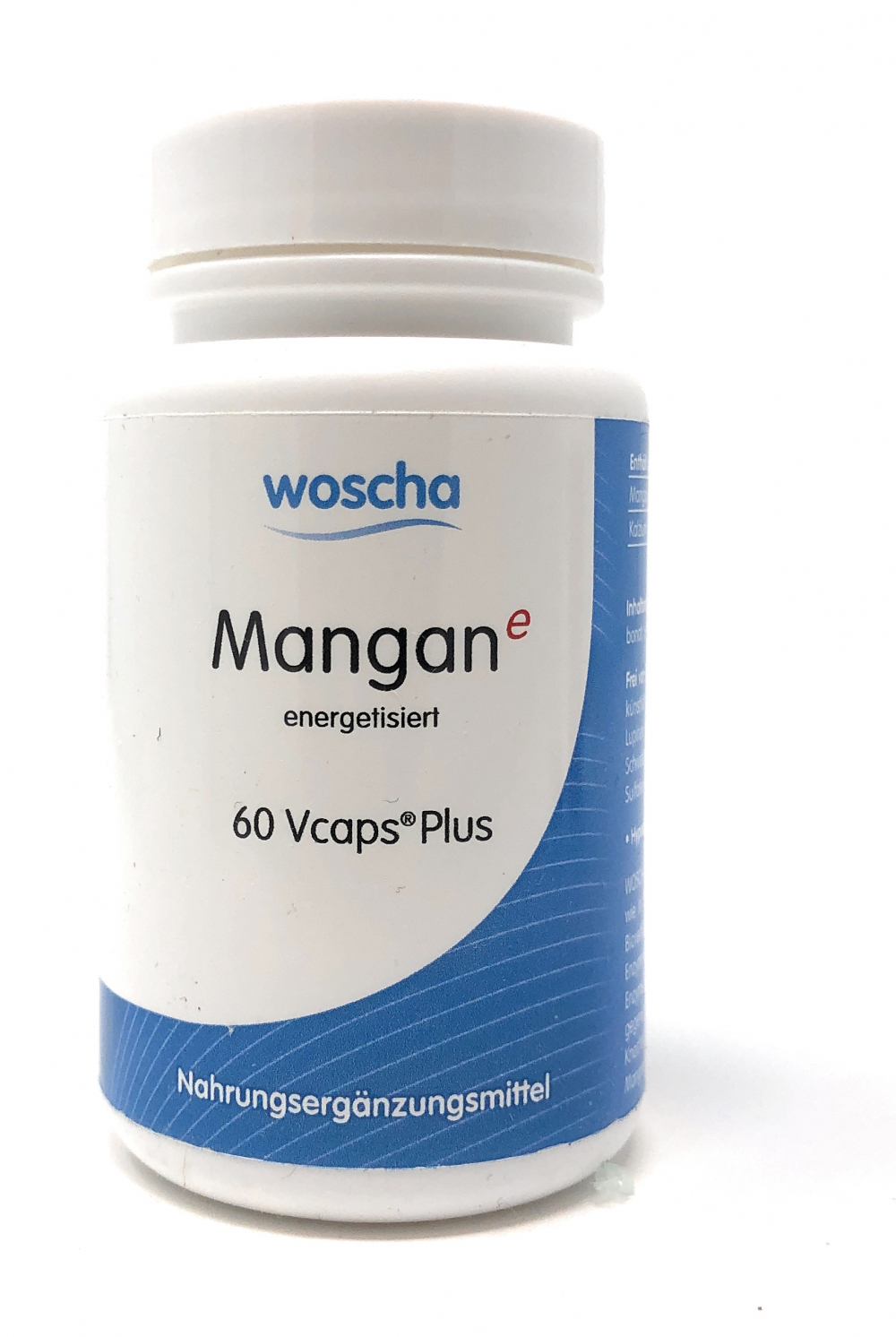 woscha Mangan energetisiert 60 Vcaps Plus (23g) (vegan)