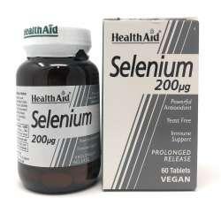 HealthAid Selenium 200mcg (Selen) S/R 60 Tabletten (vegan)