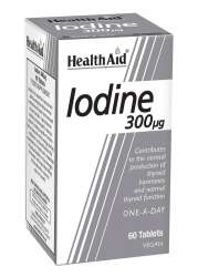 HealthAid Iodine 300mcg (Jod) (Kaliumjodid) 60 Tabletten (vegan)
