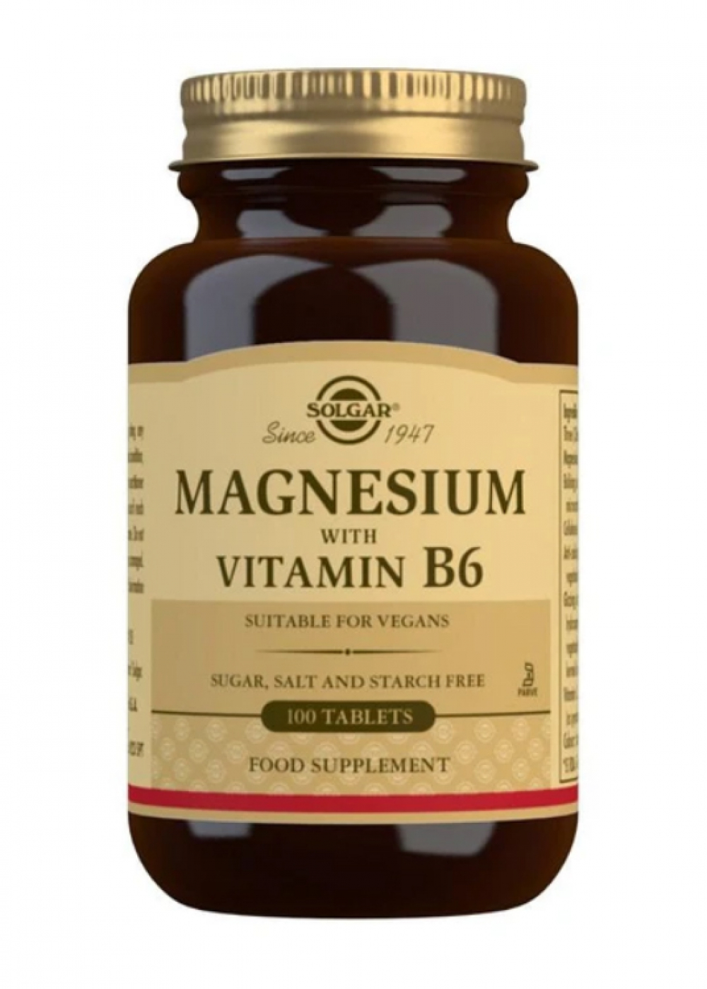 Solgar Magnesium with Vitamin B6 100 Tabletten (vegan)