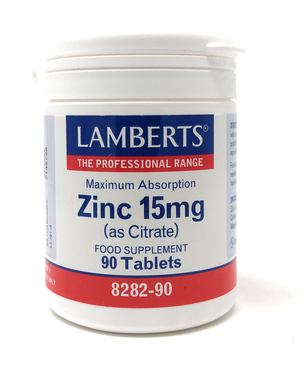 Lamberts Zinc [Zink] 15mg (as Citrate) 90 Tabletten