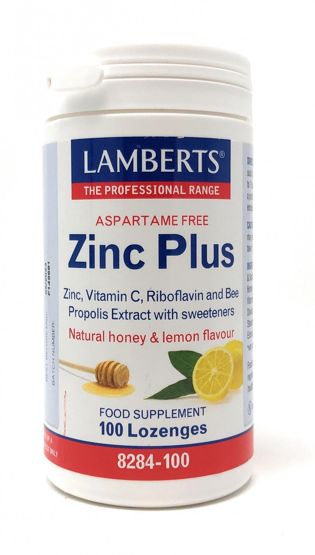 Lamberts Zinc Plus [Zink, Vitamin C, Propolis] 100 Lutsch-Pastillen