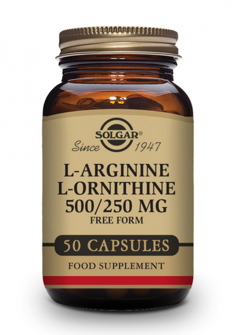 Solgar L-Arginine 500mg /L-Ornithine 250mg 50 veg. Kapseln (vegan)