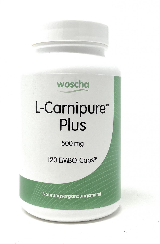 woscha L-Carnipur Plus (L-Carnitin 500mg) 120 Embo-CAPS® (vegan)(114g)